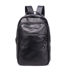Cow Leather Men Backpacks New Fashion Real Natural Leather Student Backpack Boy Large Computer Laptop Bag Male Travel Backpacks yupinxuan luxury cow leather backpacks for men large travel bags real leather high capacity genuine leather backpack male bag
