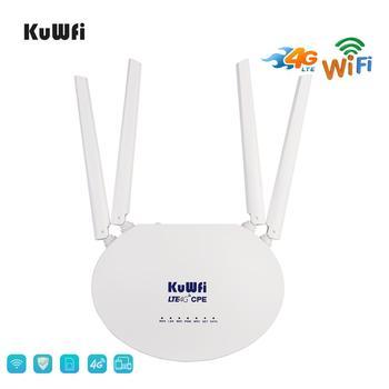 KuWfi 4G LTE CPE маршрутизатор 300 Мбит/с беспроводной маршрутизатор 3G/4G LTE wifi маршрутизатор с слотом для sim-карты и 4 шт. внешняя антенна 32 пользовате...
