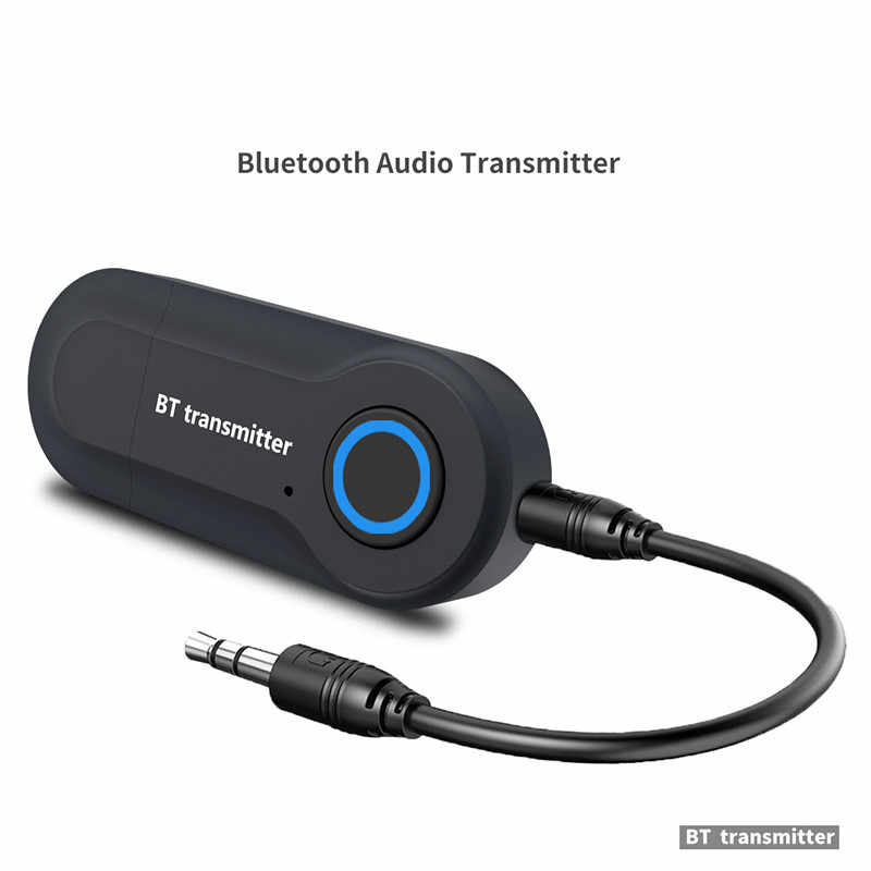 Nadajnik Bluetooth 3.5MM Jack adapter Audio bezprzewodowy Bluetooth 4.0 Stereo Audio nadajnik z adapterem do słuchawek TV