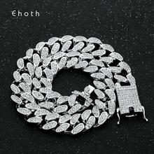 20mm Miami Curb Cubaanse Link AAA Iced Out Crystal Rhinestones Zware Ketting Gold CZ Chain Punk Choker Bling Bling hiphop Sieraden