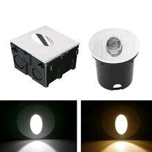 Алюминиевый Современный короткий светодиодный светильник для лестницы, 1 Вт, 3 Вт, настенный фоновый светильник, ступенчатый проходной наст...