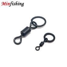 Minfishing 50 pièces, Clips pivotants de pêche à la carpe noire, connecteurs en acier inoxydable, crochet Interlock, accessoires de pêche