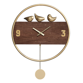 Modern Luxury Wall Clock Wood Silent Metal Creative Clocks Wall Watch Home Decor Living Room Bedroom Montre Murale Gift FZ083