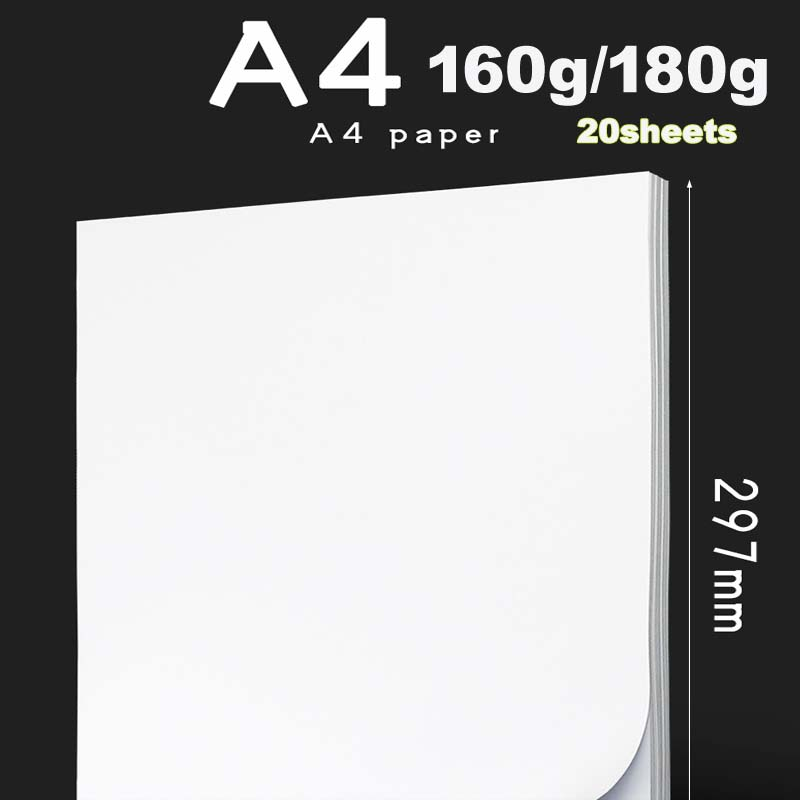 20 Sheets/package A4 High Gloss Photo Paper For Inkjet Printer Photo Studio Photographer Image Printing Glossy Paper