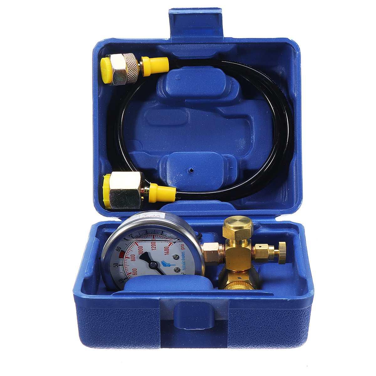 6cm Dia. Pressure Gauges Kit Hydraulic Accumulator Nitrogen Charging Filling Gas Valve Test Kit For Furukawa Soosan-JY04