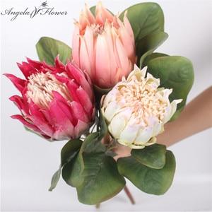 Silk single Emperor flower two sizes choose artificial flower European style wedding decoration for home garden hotel decor 1pcs