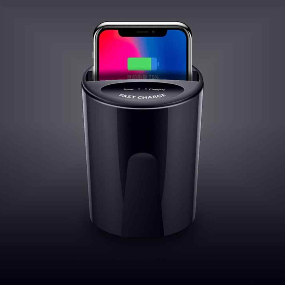 Для X9 автомобильное беспроводное зарядное устройство для автомобиля заполняющий держатель чашки база для samsung для Apple для huawei мобильный телефон Универсальный