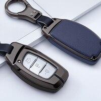 Zinc alloy Car Key Case Cover For Hyundai i10 i20 i30 HB20 IX25 IX35 IX45 HB20 2015 High Quality Smart Key Shell Car styling
