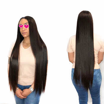 Fashow 8-34 36 38 40 inch Peruvian Straight Hair Bundles 100% Natural Human Hair 1/3/4 Bundles Remy Hair Weave Extensions Sale image