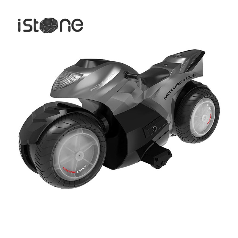 IStone IRCCAR 1 New Motorcycle Acrobatic Spray LED Light Wheel Universal Jointed Kids Toys Gift
