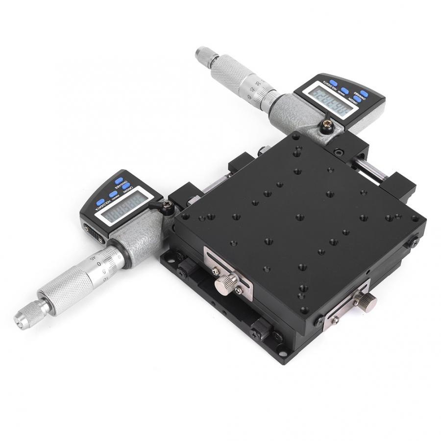 SEMXY100-AS Микрометрическая платформа с цифровым отображением 100x100 мм 0,002 мм линейная сценическая платформа микрометрический внутренний крест роликового типа