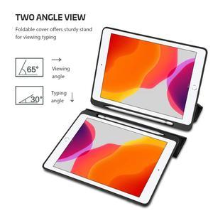 """Image 3 - Fall für iPad 10,2 2019 Neue Tablet,Generation 10.2 """", weiche TPU Zurück Schutzhülle Smart Fall mit Auto Wake/Sleep & Bleistift Halter"""