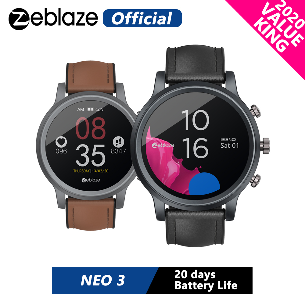 2020 New Zeblaze NEO 3 Stylish Smart Watch IP67 Water  amp  Dust Proof Smartwatch 20 days Battery Life Health  amp  Fitness Tracker