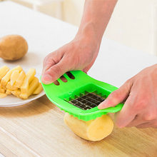 Vegetable Potato Slicer Cutter Kitchen Accessories Stainless Steel Potato Cutting Device Chopper Chips Making Tool For Fries