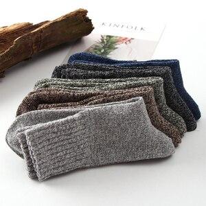 Image 3 - 10 pair/lot High Quality warm wool socks winter men harajuku retro dress socks thick cotton Sock Stripe Casual Calcetines Hombre