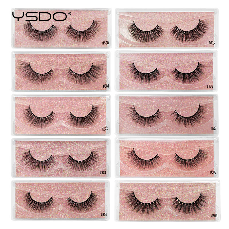 YSDO 1 Pair Eyelashes 3d Mink Lashes Thick Volume Lashes Hand Made Mink Eyelashes Natural False Eyelashes Maquiagem Faux Cils #5