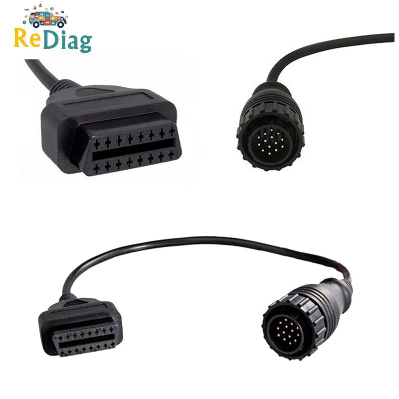 Newest OBD Adapter Cable For Mercedes Benz 14Pin To 16 Pin OBD 2 Diagnostic Connector Cable 14 Pin Cable For Sprinter For Benz
