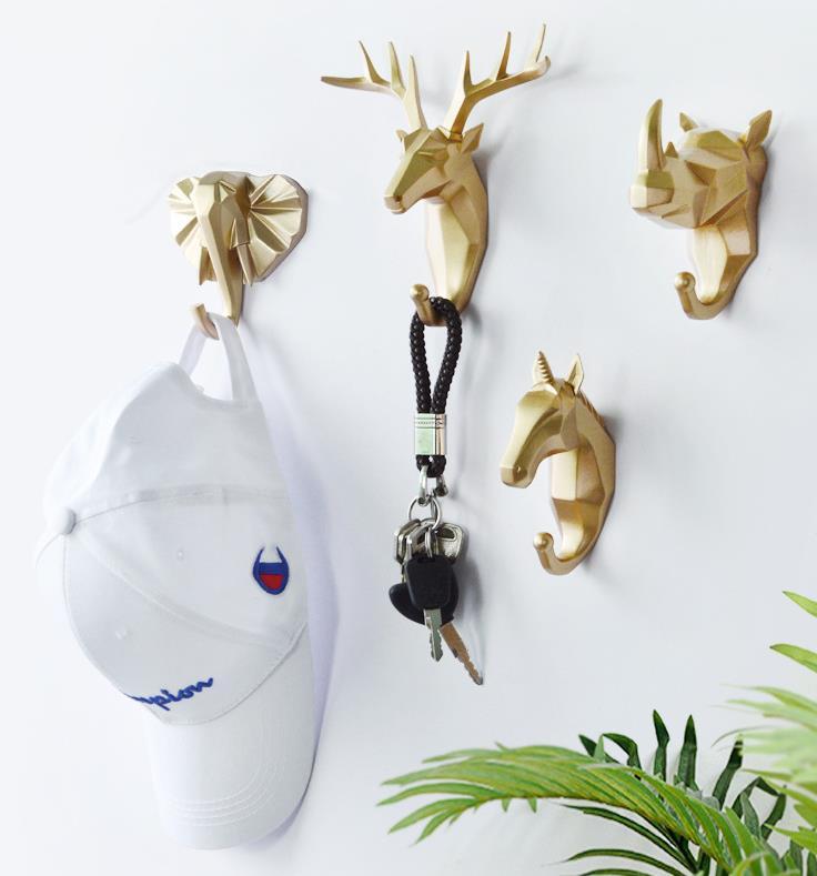 Крючок для ключей LCH в современном европейском стиле, креативное искусство в виде животного из смолы, искусство, крючок для одежды