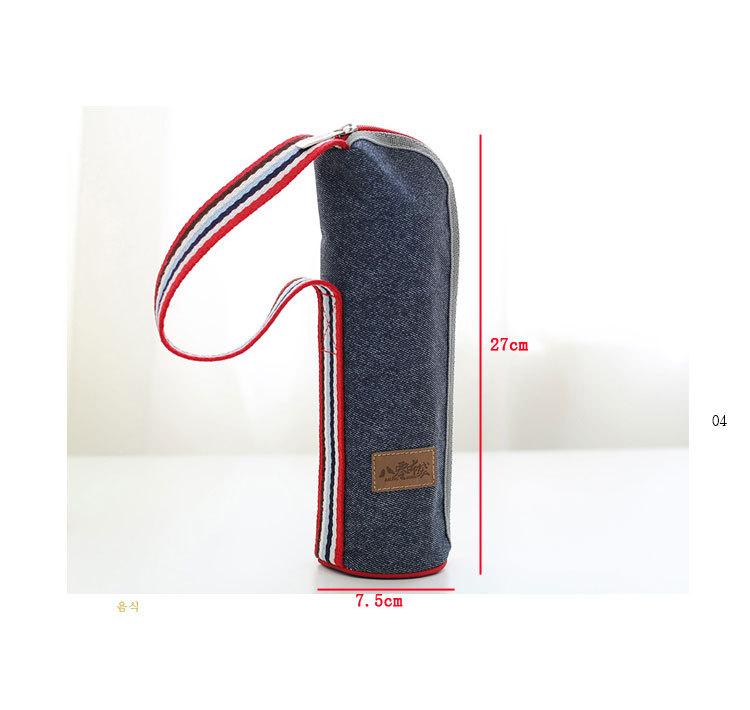 mão engrossado saco de piquenique alça de ombro isolado lancheira saco