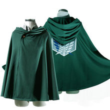 Ataque em titan traje verde manto japonês anime cosplay shingeki nenhum kyojin hoodie mikasa capa scout legion casaco