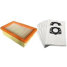цена на 14 Pcs Vacuum Cleaner Replacement Parts for Karcher Mv4 Mv5 Mv6 Wd4 Wd5 Wd6, 2 Pcs Filter & 12 Pcs Dust Bag