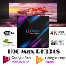 Smart-Tv-Box Google-Player RK3318 H96MAX A95x Z2 WIFI BT4.2 4K Android 4GB Play Tv box android 9.0 Rockchip Android tv