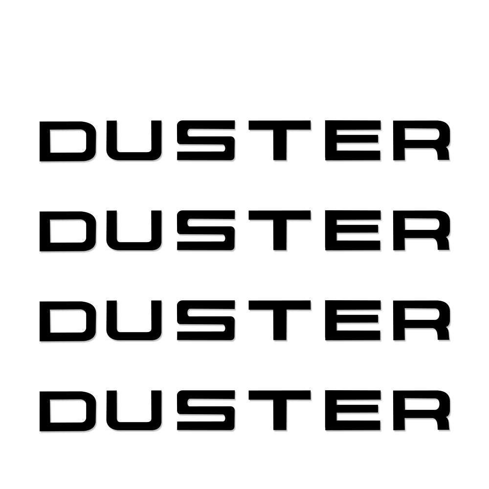 DUSTER Car Body Decoration Car Stickers and Decals Personality Car Brand Letter Decoration Stickers 4PCS/Set