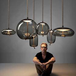 Skandynawski BROKIS Knot lampa wisząca lampka nocna żyrandol w stylu nordyckim Luminaria Deco szkło Lustre lampa wisząca oprawa Suspendu w Wiszące lampki od Lampy i oświetlenie na