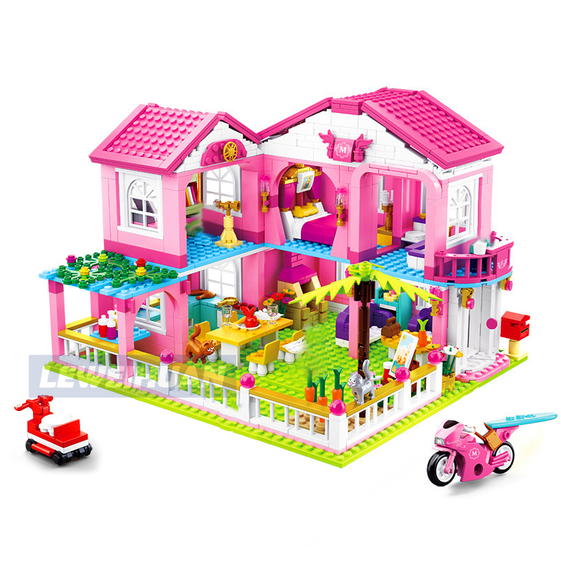 Friends Series Big Garden Villa Model Building Blocks Bricks Playgame Toys For Children Girls Toy Gifts