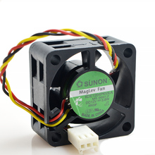 цена на SUNON 4020 40mmx40mmx20mm KDE1204PKVX-A Maglev Cooler Cooling Fan 12V 3.8W 3Wire 3Pin Connector for Router 4CM