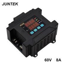 JUNTEK DPM8608 60V8A corriente de voltaje constante DC DC Step down comunicación fuente de alimentación buck voltaje convertidor LCD voltímetro