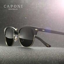 نظارات شمسية مستقطبة من CAPONI للرجال مصنوعة يدويًا بإطار معدني TR90 نظارات شمسية ريترو ماركة فاخرة للرجال UV400 CP3101