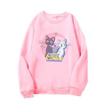 Fashion Womens Pullovers Sweatshirts Long Sleeve Female Hoodies Tops Autumn Spring Cute Ladies Girls Hoody