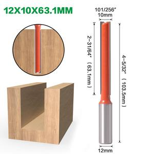 Image 2 - 1pcs 12mm Shank 2 flute straight bit Woodworking Tools Router Bit for Wood Tungsten Carbide endmill milling cutter