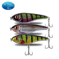 120mm 49g New Colors 001 To 029 Slow Sinking Muskie Pike Jerk bait Hard Bait Fishing Lure With Strengthen Treble Hooks