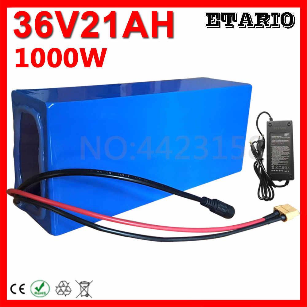 1000W 36V Electric Bike Battery 36V 20AH Lithium Battery 36 Volt 20AH Ebike Battery with 30A BMS 42V 2A Charger Free Customs Tax