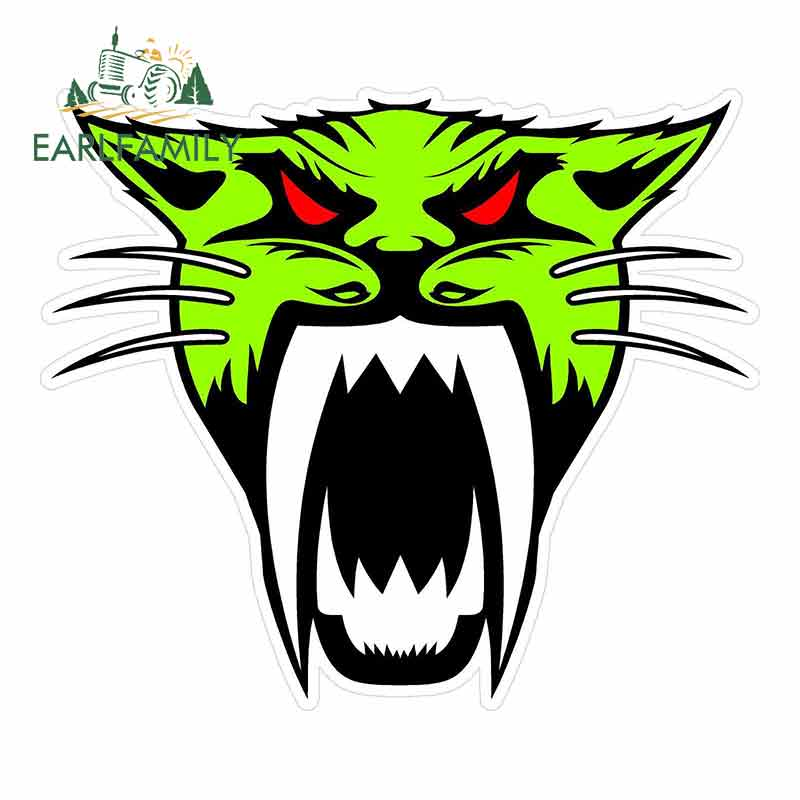 EARLFAMILY 13cm X 11.2cm For Arctic Cat Head Cartoon Car Stickers Vinyl JDM Bumper Trunk Truck Graphics Waterproof Anime Decal