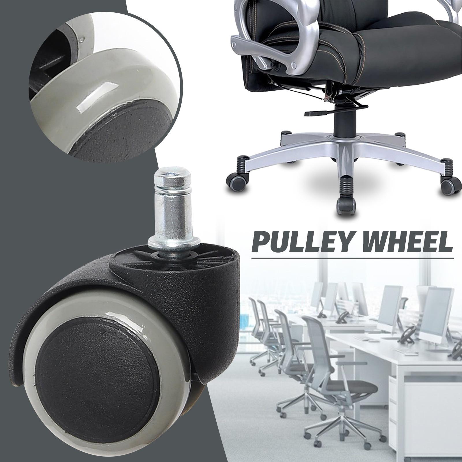 5 шт. офисный стул на колесиках 3 дюймов Вращающийся резиновый ролик колеса замена мягкий безопасный ролики мебельная фурнитура кухня АКС