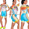 Roupa de ciclismo feminina manga curta, equipamento de equipe corporal sexy de tri skinsuit, roupas de ciclismo personalizadas, triathlon, 2020 10