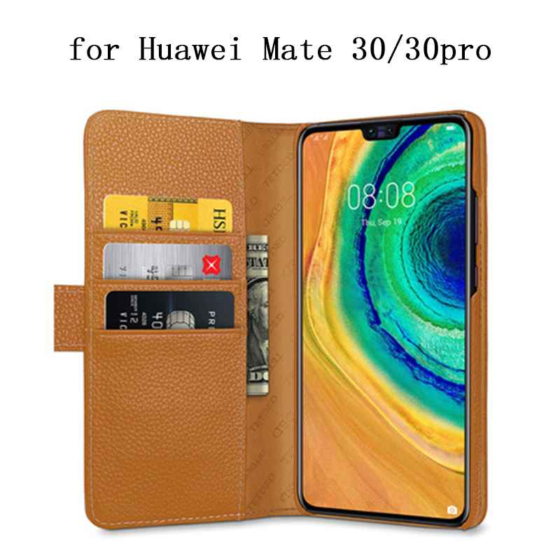 New Fashion Genuine Leather Case for Huawei Mate 30 Case Flip Magnetic Phone Shell Skin for Huawei Mate 30Pro 30 Pro Wallet Bag