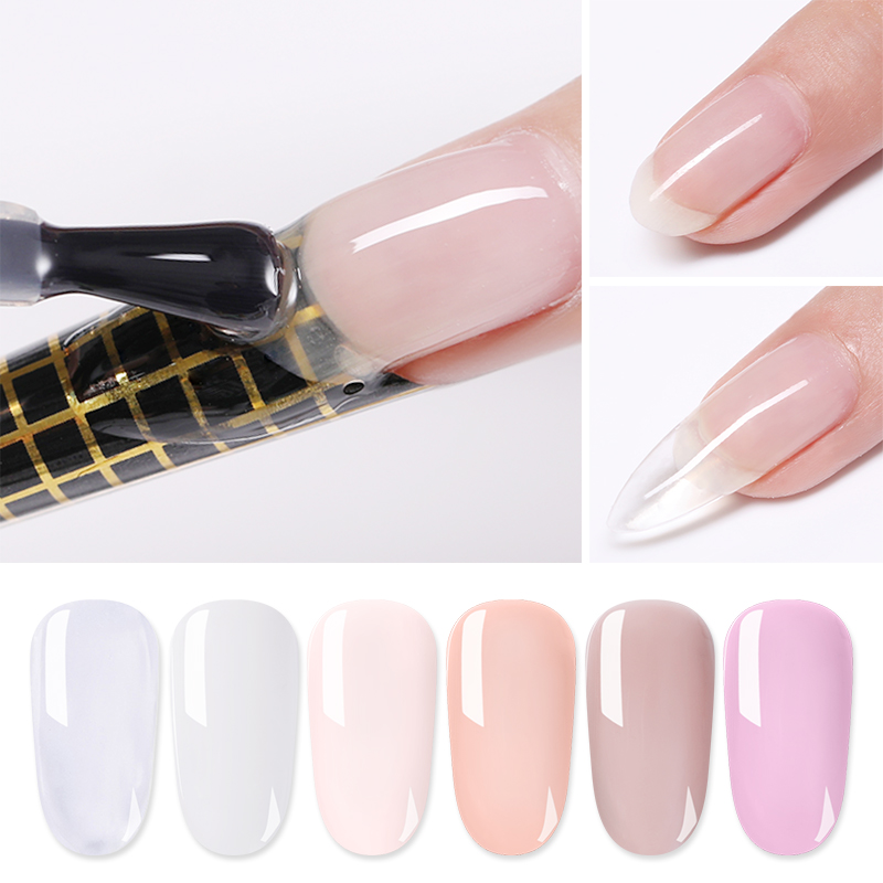 LILYCUTE 5ml Quick Extension Gel  White Clear Acrylic Poly UV Gel  Soak Off Crystal Jelly Finger Building Gel Tips