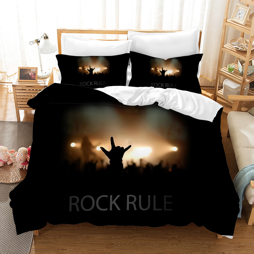 Occident Rock Music Bedding Set Duvet Covers Pillowcases Rock Band Rock Rule Comforter Bedding Sets Bedclothes Bed Linen Bed Set