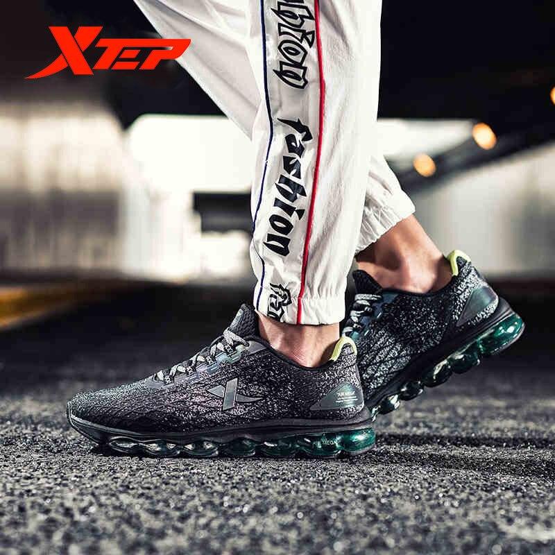 Xtep AIR MEGA Men Running Shoes Autumn And Winter Air Cushion Shock Absorption Sports Running Sneaker Shoes Men 881119119286