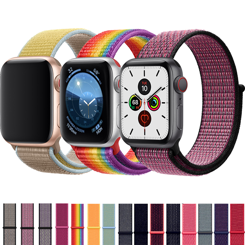 Strap For Apple Watch Band 42mm 38mm 5 4 3 Correa Iwatch 44mm 40mm Sport Loop Bracelet Apple Watch 5 4 Accessories 5/3/2
