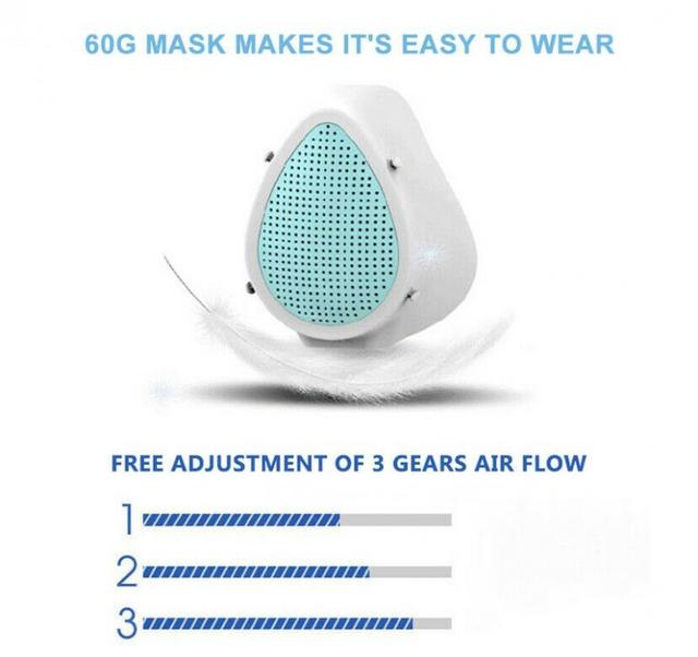 Electric Mask Mouth Dust Face Breathable-Valve Cover Masks  Breathing Valve Fashion Electric Mask Intelligent Mascarillas 2