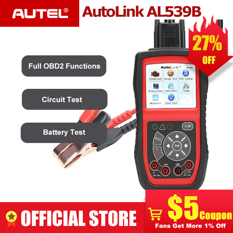 Autel Autolink AL539B OBD2 scanner automotive Electrical Test Tool For odb2 diagnostic tool EOBD OBD 2 car Code Reader PK al539-in Code Readers & Scan Tools from Automobiles & Motorcycles