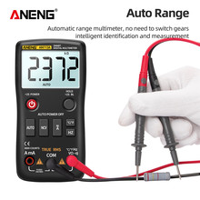 цена на ANENG AN113A Digital Multimeter True RMS with Temperature Tester 4000 Counts Auto-Ranging AC/DC Transistor Voltage Meter
