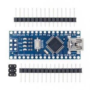 Image 2 - 100 pièces Nano 3.0 ATMEGA328P contrôleur compatible avec pour nano CH340 USB pilote 16Mhz pas de câble pour arduino