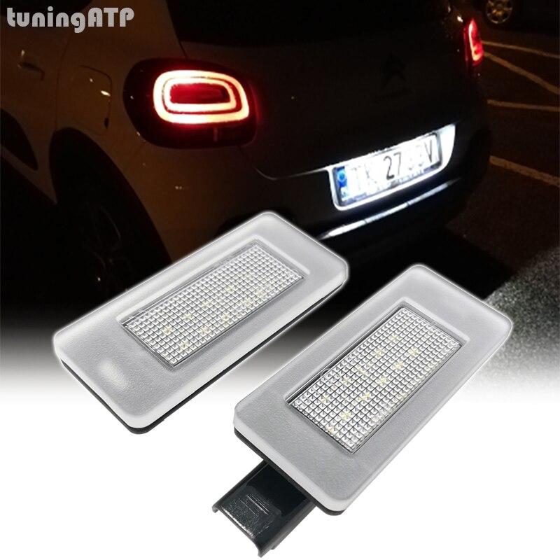 TuningATP светодиодный задний номерной знак светильник лампы для Citroen C3 III C4 хэтчбек MK2 C4 кактус C4 Picasso II C5 RD TD
