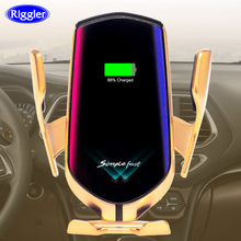 Cargador inalámbrico automático de 10W para coche, tipo C, para Huawei mate30 pro, para Samsung S10 + Qi, soporte de teléfono de inducción infrarroja